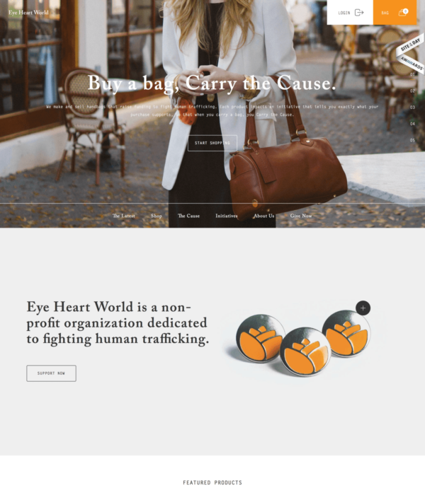 Eye Heart World - Buy a Bag, Carry the Cause
