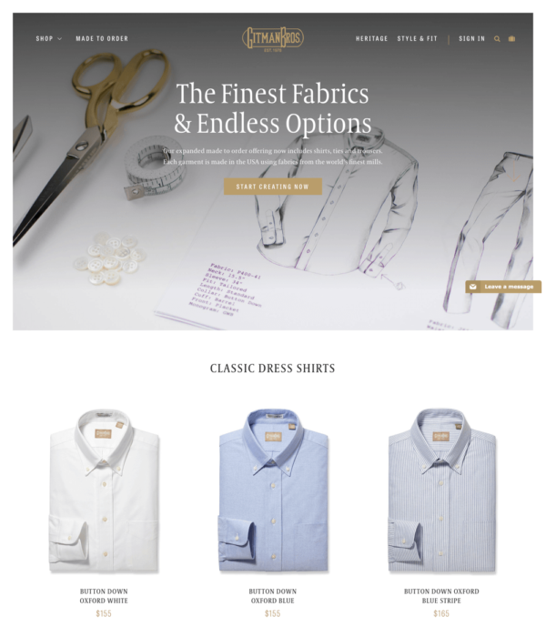 Gitman Shirts & Ties