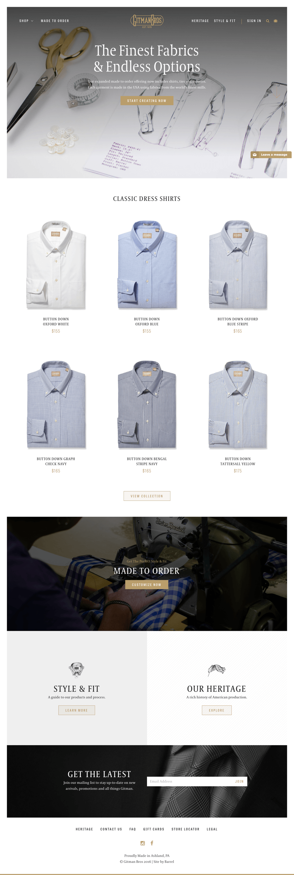 Gitman Shirts & Ties