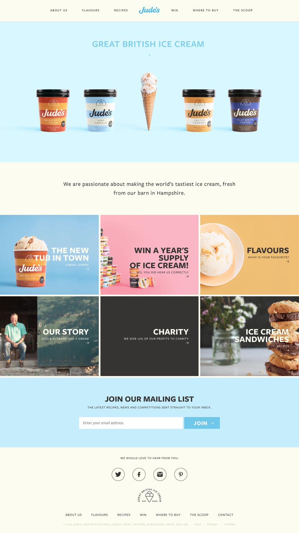 Home | Jude's Ice Cream
