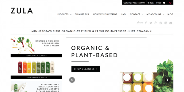 ZULA | Organic Cold-Pressed Juices + Cleanses