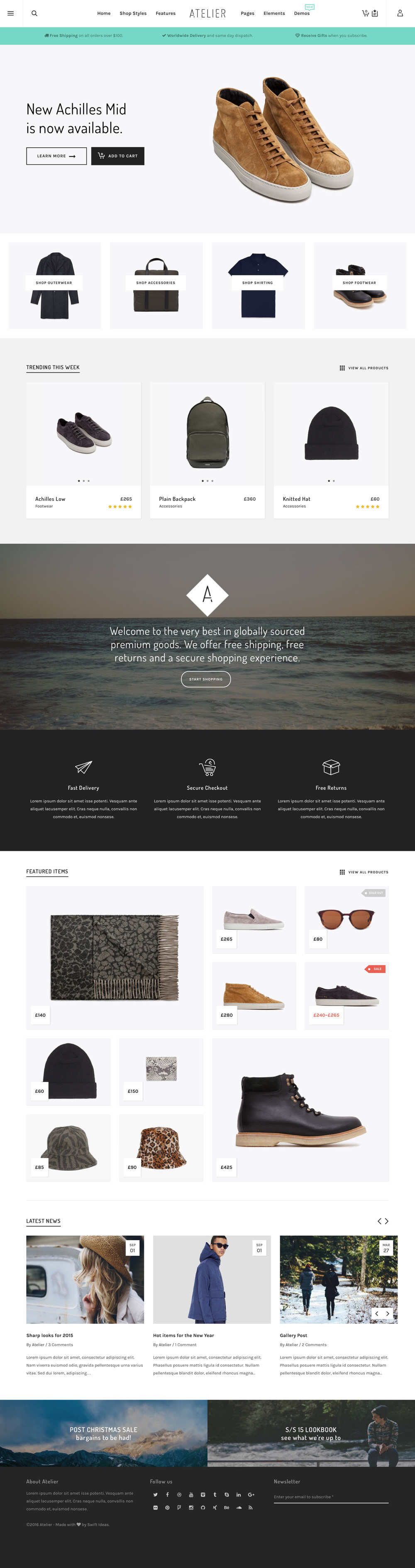 Atelier | Premium WordPress Theme