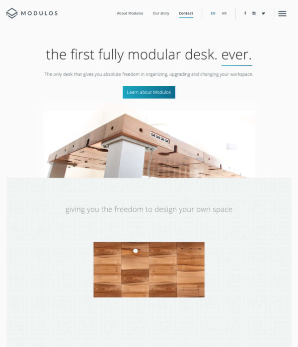 Modulos - A revolutionary desk system made for the new age